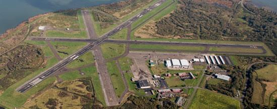 Aerial view of the airport